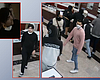 Above: Surveillance photos released by the La M...
