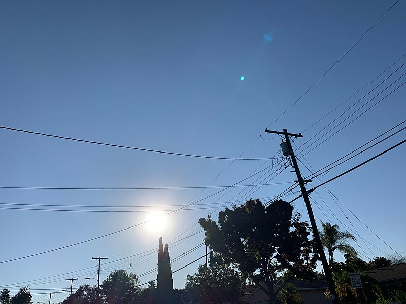 Clear skies in the San Carlos neighborhood in San Diego County. Sept. 30, 2020.