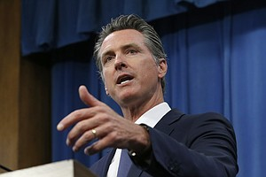 Photo for Law Enforcement Probe Threats Against Newsom, His Businesses