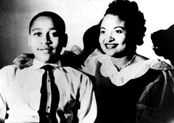 Emmett Till with his mother, Mamie Till, early 1950s.