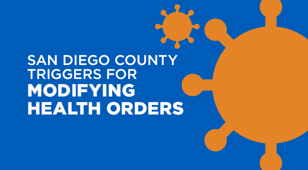 San Diego County Triggers For Modifying Health Orders Promo Graphic
