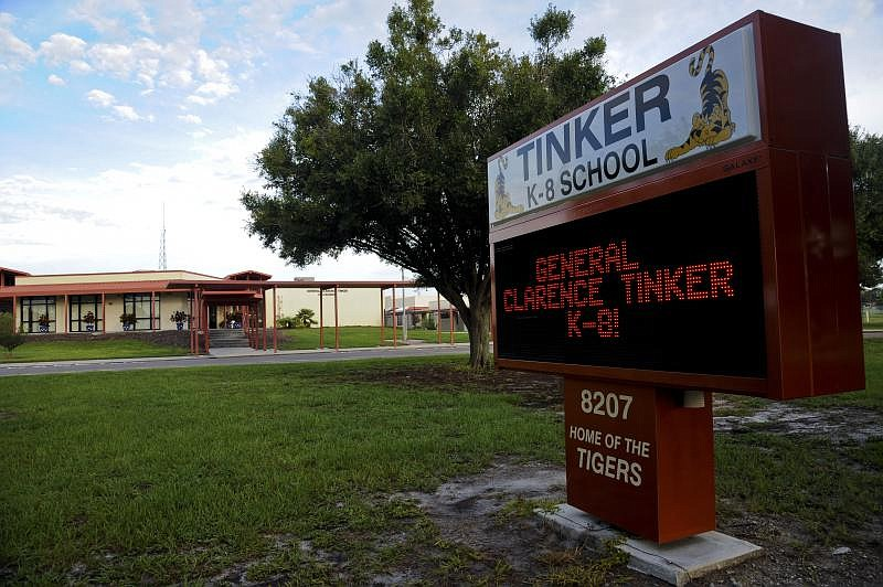 At General Clarence Tinker K-8 School on MacDill Air Force Base, Fla., about ...