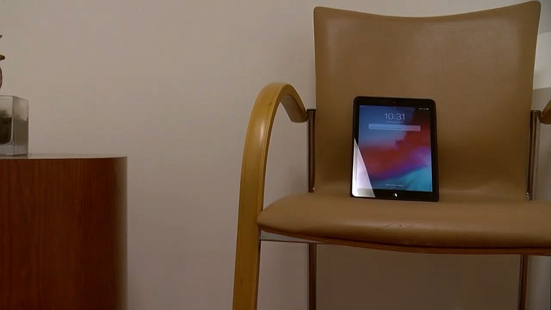 An iPad sits a room at La Maestra Community Health Center in City Heights whe...