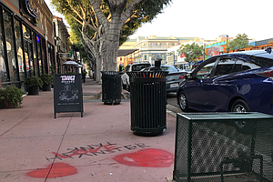 Photo for Artist Moves Quickly To Cover Hate Symbol In Hillcrest