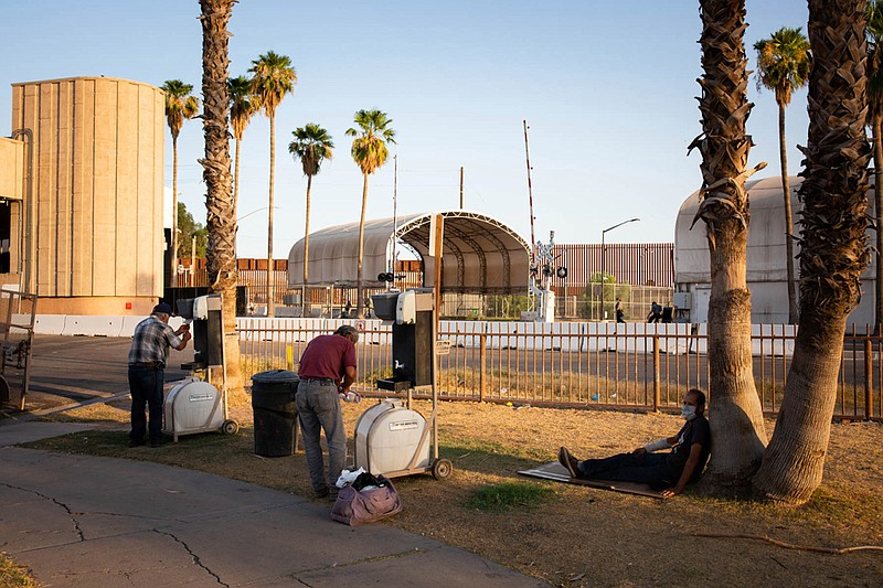 Each evening, volunteers serve a hot meal to anyone in need at Border Friends...