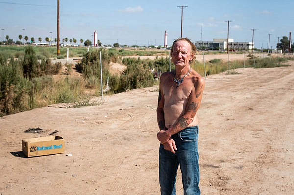 Carl Wilkinson lives on a stretch of dirt not far from Im...