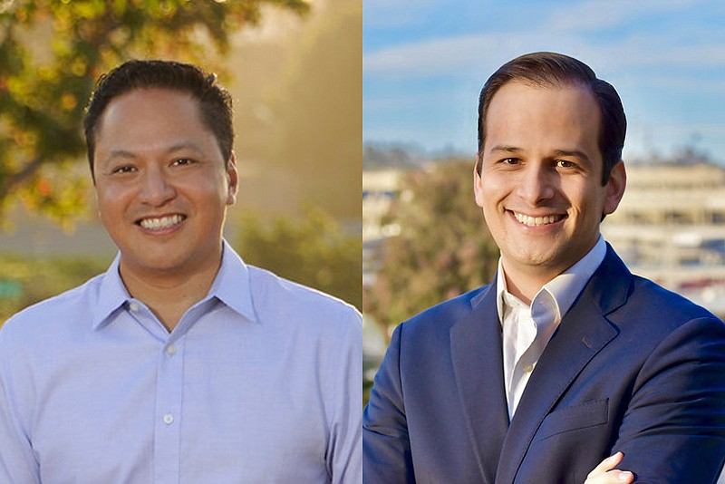 City Council candidates Noli Zosa (left) and Raul Campillo in undated campaig...
