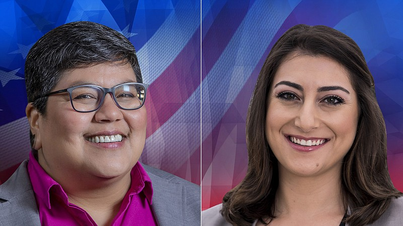 53rd Congressional Candidates Georgette Gómez (left) and Sara Jacobs (right) ...