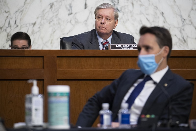 Sen. Lindsey Graham, R-S.C., during the confirmation hearing for Supreme Cour...
