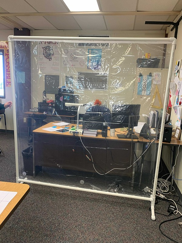 PVC pipes and plastic liner given to Madison Middle Schoo...