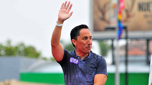 Todd Gloria appears in the 2015 San Diego Pride Parade.