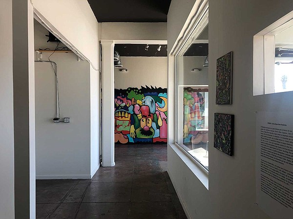 An interior exhibition at The Front gallery features smal...