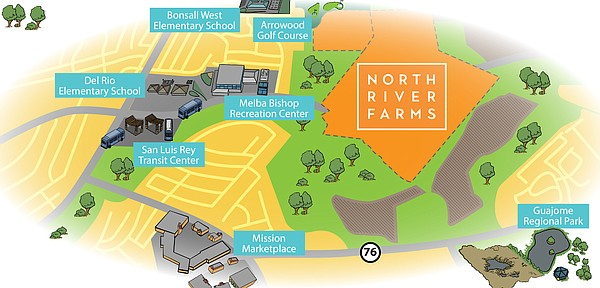 A proposed map of the location for the North River Farms ...