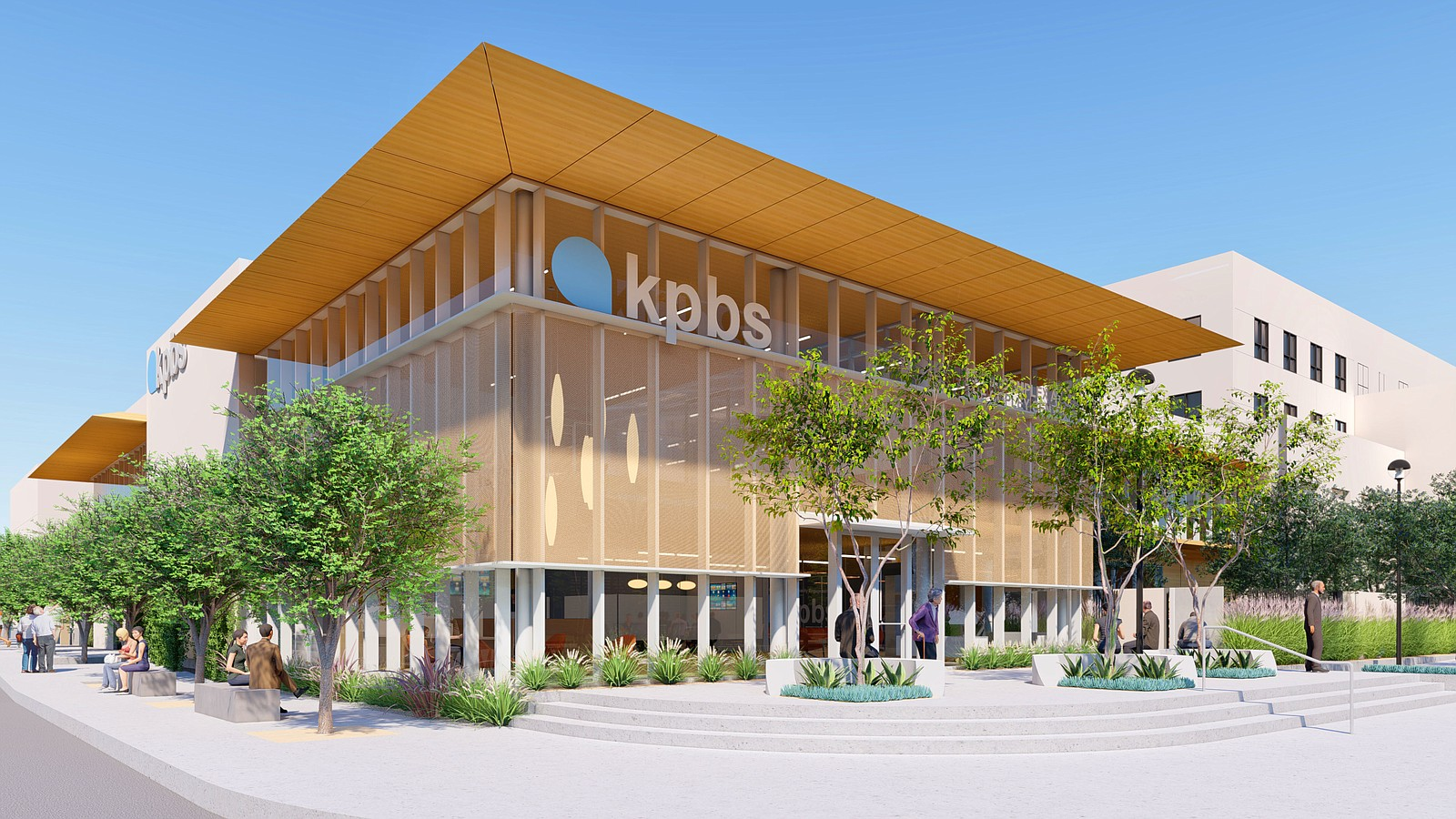 The KPBS Media Complex at the Copley Center is shown in this rendering.