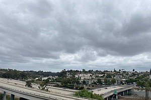 Clouds Cover San Diego County Saturday, Rain Possible Sunday