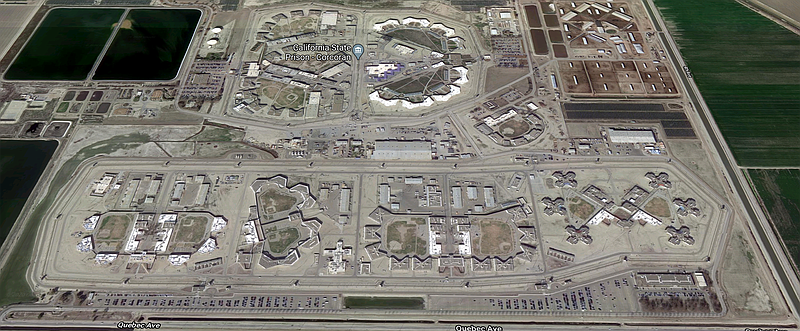 The Corcoran State Prison is shown in this undated aerial photo. Inmates at i...