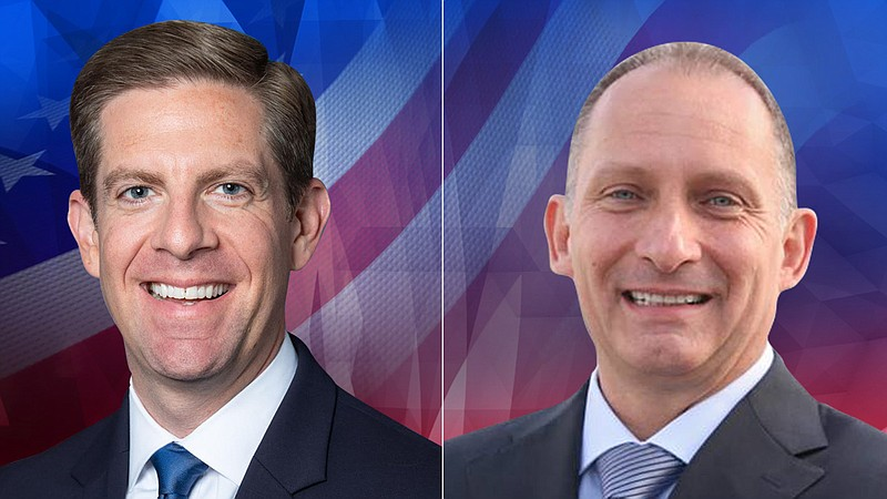49th Congressional District candidates Mike Levin and Brian Maryott are pictu...