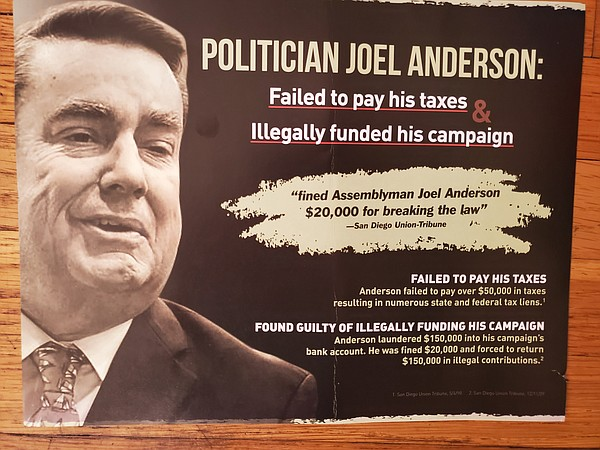 A campaign mailer sent about former state Assemblyman Joe...