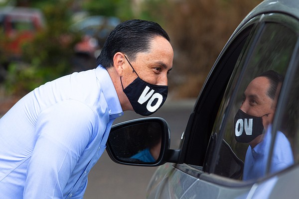 State Assemblymember Todd Gloria, a mayoral candidate, gr...