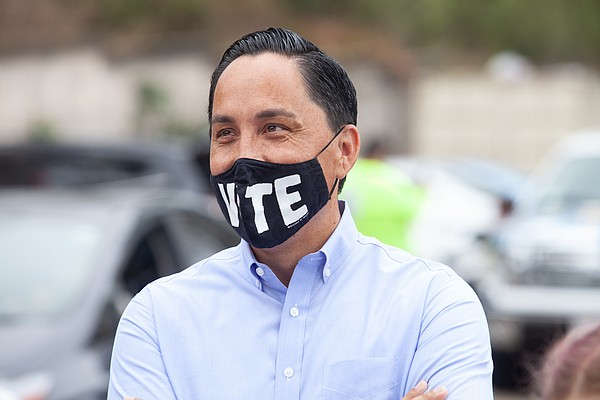 State Assemblymember Todd Gloria, a mayoral candidate, sp...