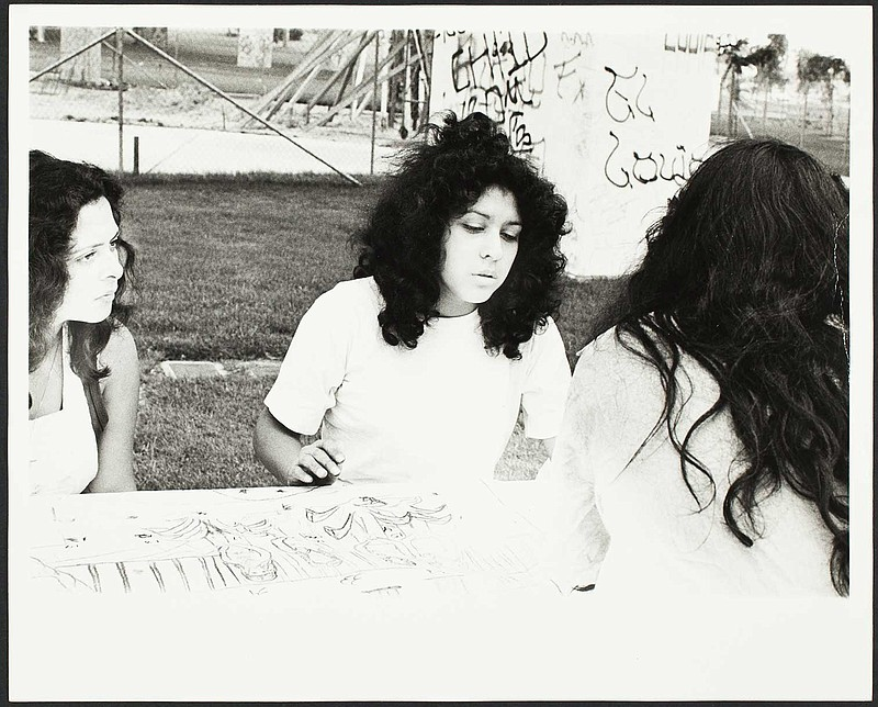 An undated photograph taken at Chicano Park is part of a new book chronicling...