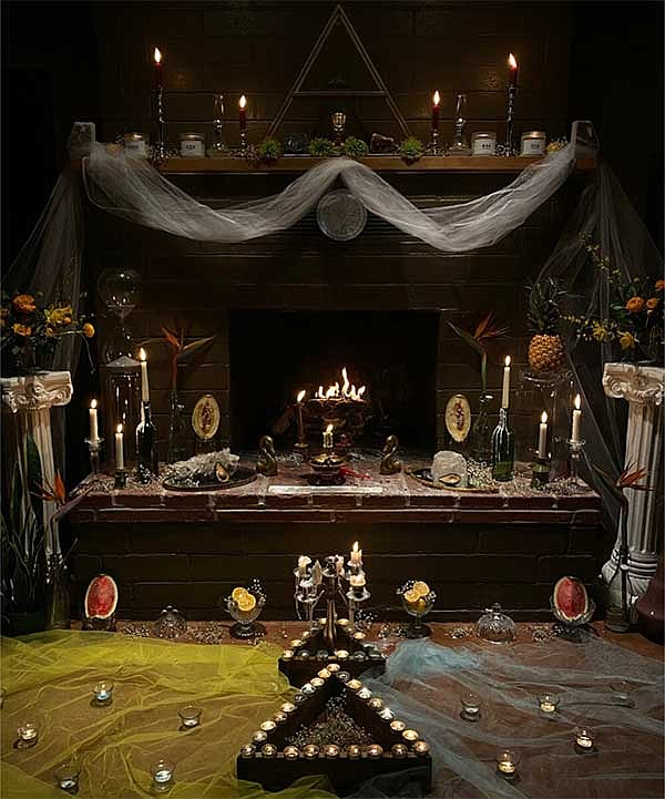 An ofrenda by Mariah Romero is pictured in an undated photograph. Romero will...
