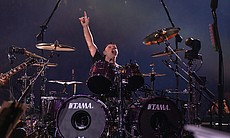 Lars Ulrich, drummer and co-founder of Metallic...