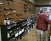Inside of Poway Weapons and Gear Range, Oct. 30...