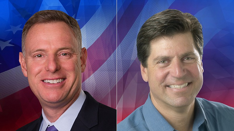 52nd Congressional District candidates Scott Peters and Jim DeBello are pictu...