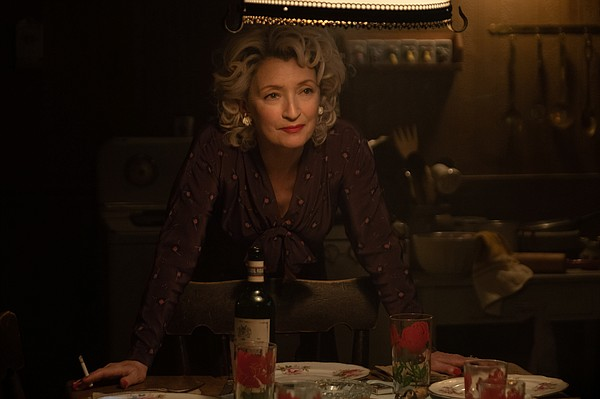 Lesley Manville emerging from the darkness as Blanche Web...
