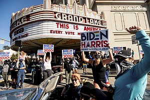 Photo for Biden, Harris Win Launches Parties, Protests In California