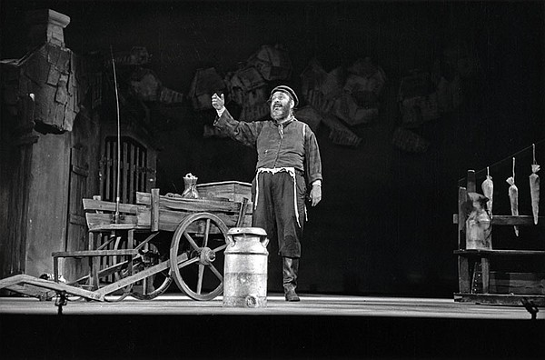 """Zero Mostel as Tevye in """"Fiddler on the Roof."""" (undated p..."""