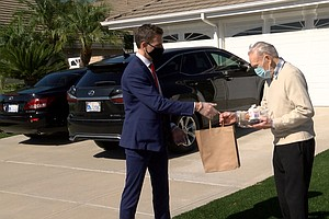 Photo for Meals On Wheels Honors WWII Veteran In Oceanside