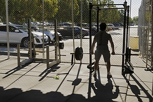 Photo for San Diego Gyms Prepare To Operate Outdoors Under Purple Tier