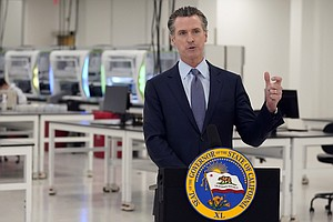 Photo for Gov. Newsom Imposes New Restrictions To Curb COVID-19