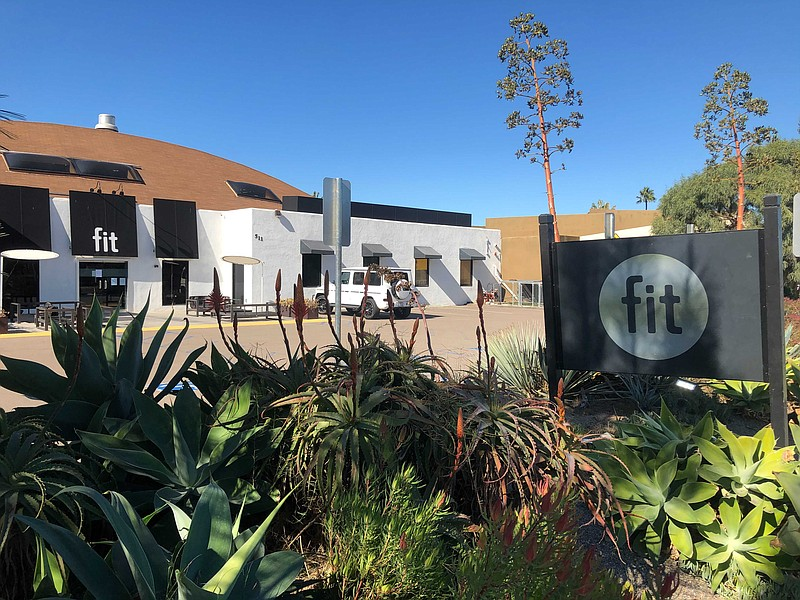 Fit Athletic Club in Solana Beach is shown on Nov. 17, 2020.