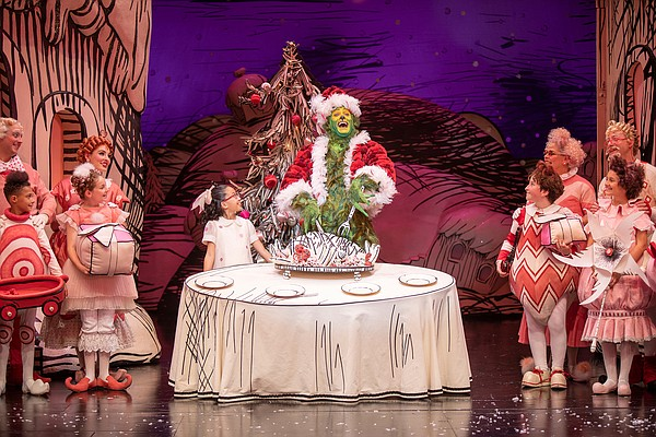 Sophia Adajar as Cindy-Lou Who and Edward Watts as The Gr...
