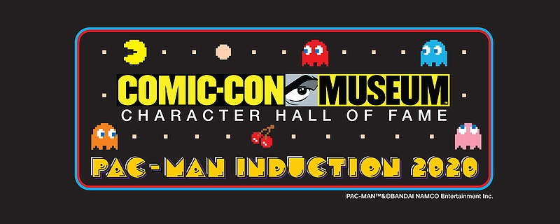 Pac-Man induction graphic released by Comic-Con Museum on Nov. 19, 2020.