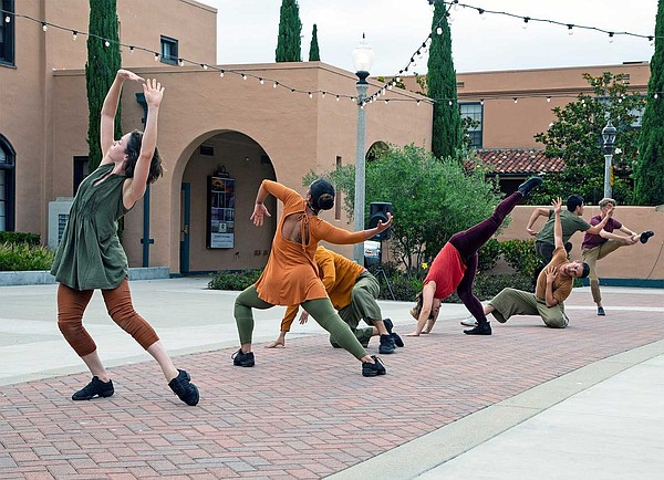 Dancers from San Diego Dance Theater rehearse for their
