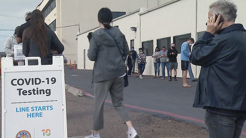Holiday Travel Creating Long Lines At San Diego Covid 19 Testing Centers Kpbs
