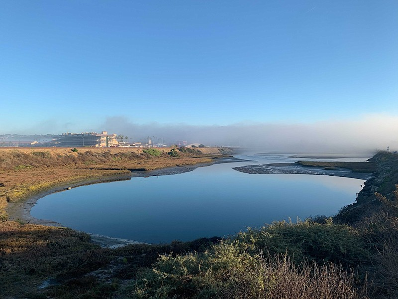 Wetlands in the San Dieguito Lagoon near the Del Mar Fairgrounds on Nov. 17, ...