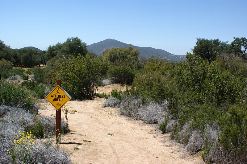 A hiking trail in San Diego County in this undated photo.