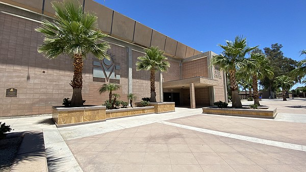 The outside of the Imperial Valley College gym is shown i...