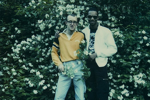 Keith Haring and Juan Dubose polaroid, 1982.