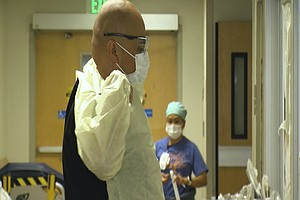 Photo for Hospital Staffs Stretched Thin During California Virus Surge