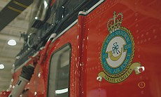 Crest from the side of a Queen's Flight helicop...