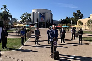Photo for City Unveils Restored Palisades Plaza In Balboa Park