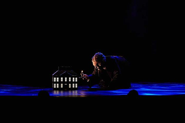 Jefferson Mays is pictured on stage as Ebenezer Scrooge i...