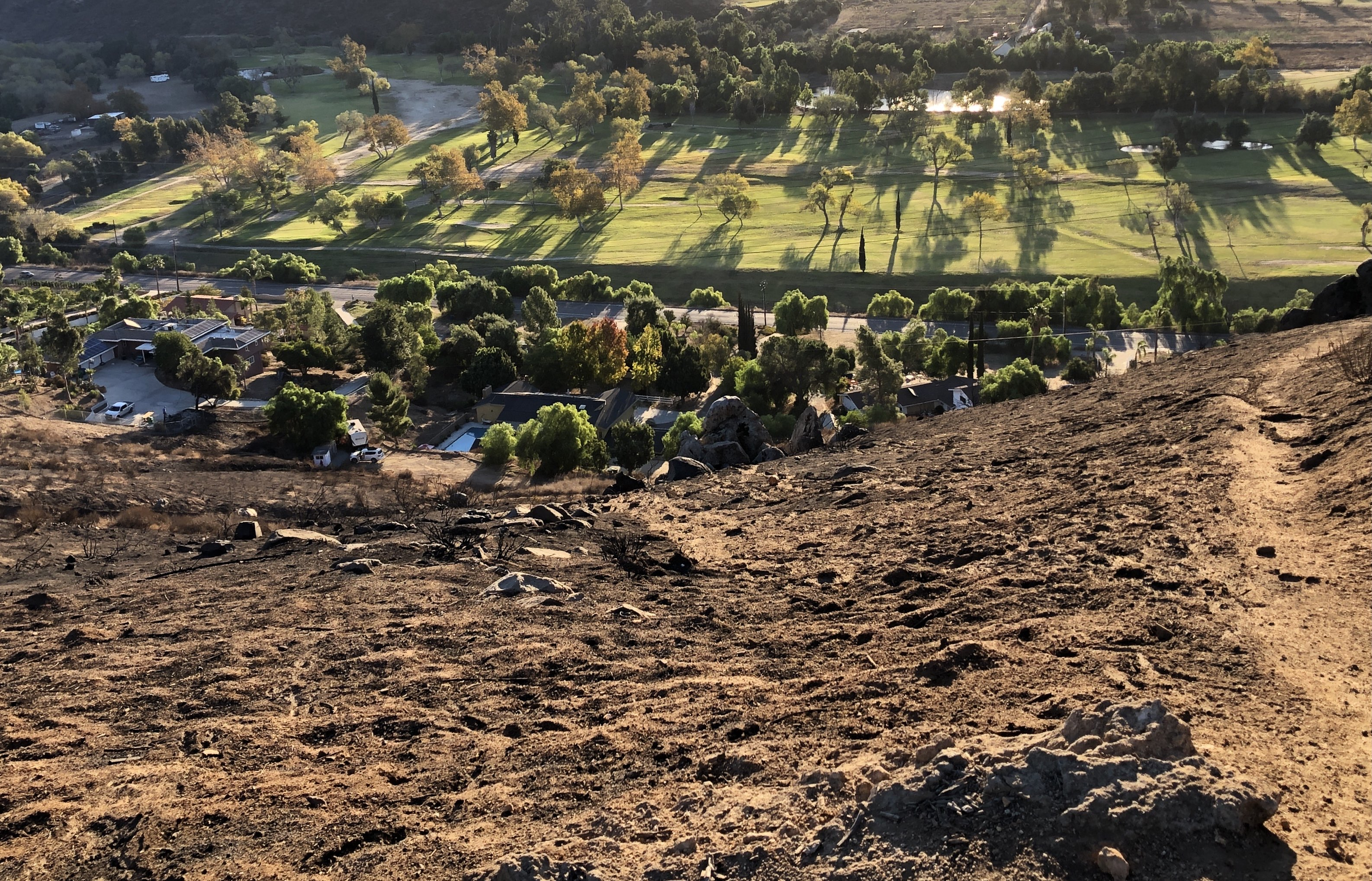 Firefighters Subdue 30-Acre Wildfire In Rancho San Diego