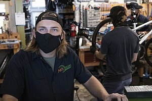 Photo for COVID-19 Has Crippled Many Businesses But One San Diego Bike Shop Is Thriving